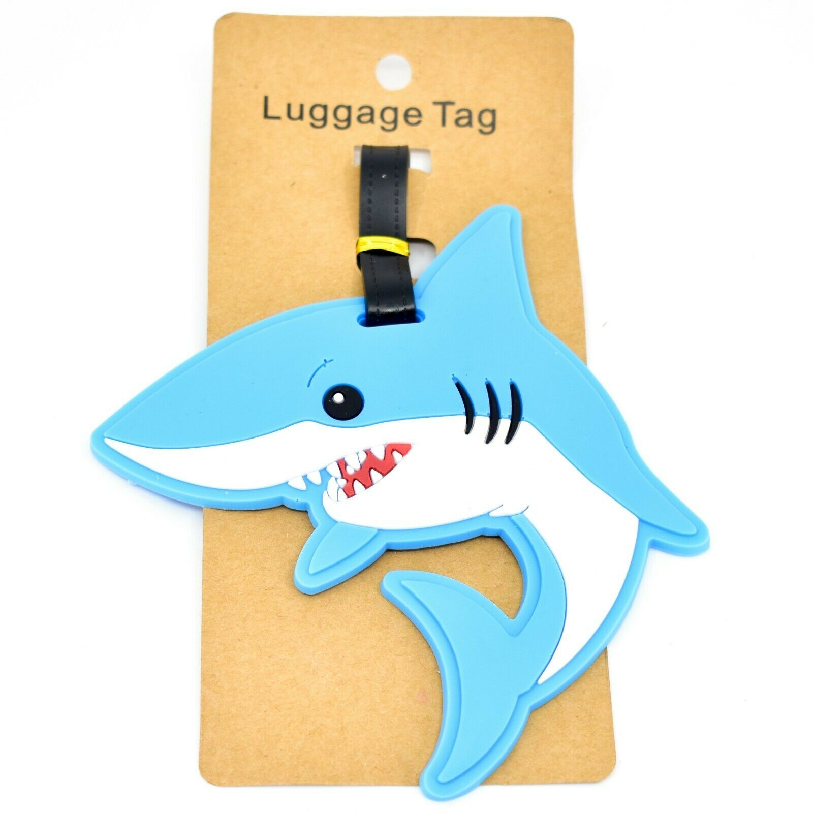 Great White Shark Rubber Baggage Luggage Traveling Tag