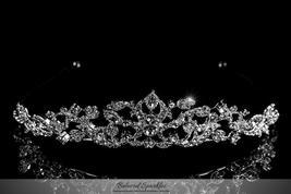 Nedda Art Deco Filigree Silver Tiara | Swarovski Crystal - $65.95
