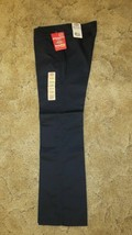 Dickies Girl's School Uniform Flare Flat Front Wide Band Navy Sz 9 Jr 32... - $14.80