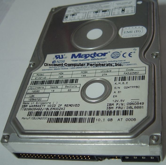 91021U2 Maxtor 10GB 3.5in IDE Drive Tested Good Free USA Ship Our Drives Work