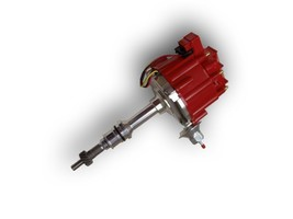 SBF Ford 260 289 302 302W V8 Coil Hei Distributor 50000 50K Volt w/ Red Cap