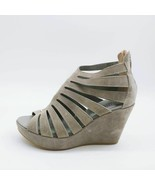 Cordani Womens Caged Wedge Heels Shoes Gray Zipper Open Toe High Heel EU... - $54.44