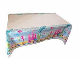 Party Supplies 70.9'' x 39.3'' Mermaid Tail Plastic Tablecloth Party Dec... - $7.24