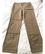 GLORIA VANDERBILT CHINos DK KHAKI PANTS  Soft  •  Style Straight Cut SIZE 8 - $9.85