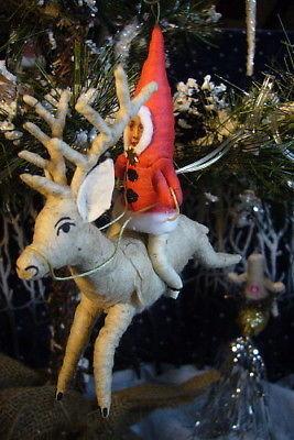 Vintage Inspired Spun Cotton Reindeer Rider no.101