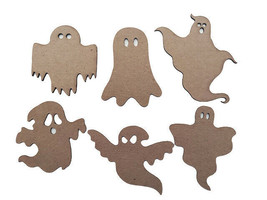 Creative Embellishments Chipboard Ghosts, Set of 6