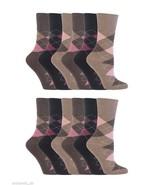 12 Pairs Womens Sockshop Cotton Gentle grip socks 4-8 uk,37-42 eu, Argyl... - $18.56