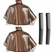 4 Pcs Hair Shampoo Cape Barber Hair Dye Cape Coloring Cutting Capes Waterproof H image 1