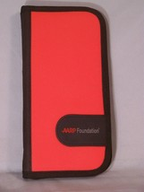 """AARP Foundation zippered folio with Pen, approx 10"""" x 5"""" x 1"""" closed - $8.10"""