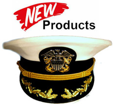 Us Navy Commander Captain Rank White Hat Cap Authentic New All Sizes - Cp Made - $114.00