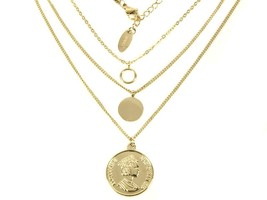 Layered gold chain delicate and dainty style necklace - $34.79