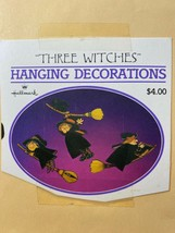 Vintage Hallmark Halloween Witches 3D Hanging Honeycomb Decorations Mobile - $16.82