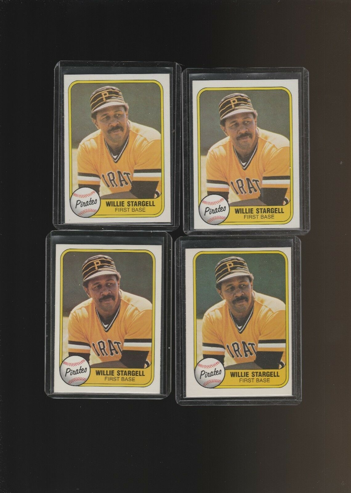 1981 Fleer #363 Willie Stargell Pittsburgh Pirates  Lot of 4