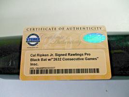 CAL RIPKEN JR. / MLB HOF / AUTOGRAPHED RAWLINGS PRO BLACK BASEBALL BAT / STEINER image 7