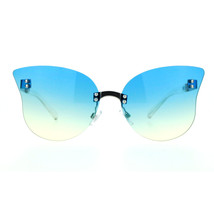 Womens Rimless Butterfly Sunglasses Beautiful Ombre Gradient Lens UV 400 - $12.95