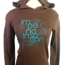 Imperial Motion Pullover Hoodie Thermal Waffle Brown Skate Womens Medium... - $38.95