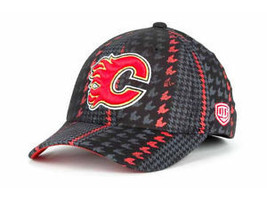 CALGARY FLAMES OTH BRIDGE STRETCH FIT  HOCKEY CAP/HAT M/L MSRP $24.99 - $18.04