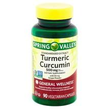 Spring Valley Turmeric Curcumin 500 mg General Wellness 90 Vegetarian Ca... - $14.16