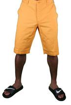 Hawke & Dumar Tab Detail Twill Rustic Orange Walk Summer Shorts HD1250503 NWT image 2