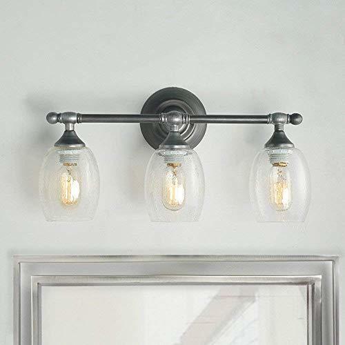 Bathroom Light Fixtures Fix: LOG BARN A03354 Metal Vanity Wall Light, 3-Light Farmhouse