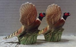 Vintage NORCREST JAPAN Pheasant Shaped Novelty Salt & Pepper Shakers - $13.25