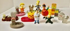 Simpsons Burger King Halloween Figures & Parts Lot - $9.89
