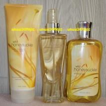 Wild Honeysuckle Bath Body Works Fragrance Splash Body Cream Shower Gel - $36.00