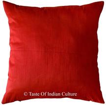 40.6cm Rot Dekorativ Kissenbezug Dupionseide Sofa Indisch Ethnisch - $7.84