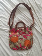 Fossil Key-Per Orange Blossom Coated Canvas Convertable Crossbody Bag  - $10.20