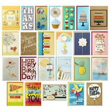 Hallmark All Occasion Handmade Boxed Set of Assorted Greeting Cards with... - $61.19