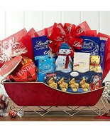 Lindt Dreams: Holiday Sleigh Gift Basket - $120.95