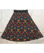 Womens Lularoe Geometric Aline Skirt Multicolor XS - $7.84