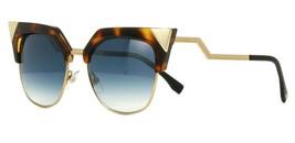Fendi IRIDIA FF 0149/S TLW/G5 Sunglasses Havana/Gold Azure Light Mirror Cat Eye - $128.65