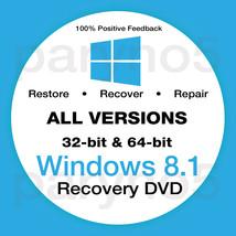 WINDOWS 8.1 HOME 64 Bit Recovery Install Reinstall Boot Restore DVD Disc... - $7.99