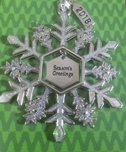 "Christmas Snowflake ""Season's Greetings""  Ornament by Ganz Collectable New. - $29.65"