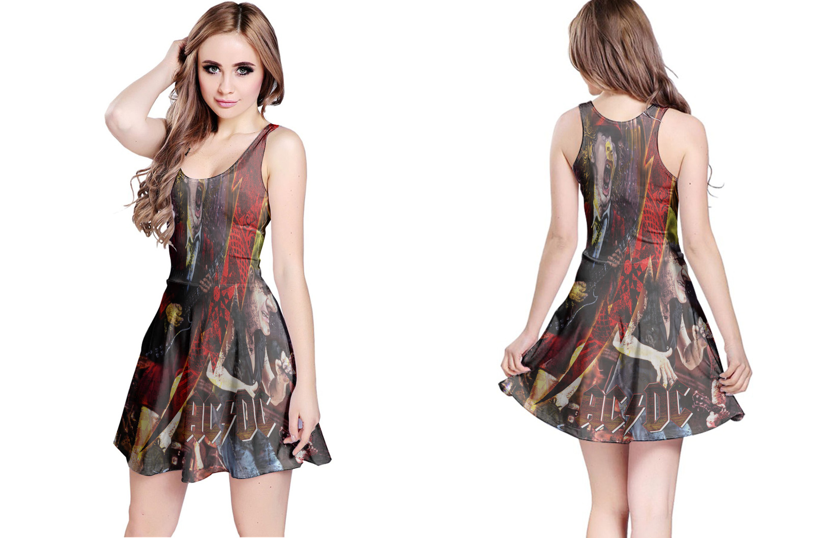 Primary image for ACDC Collection #1 Women's Reversible Dress