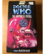 Bbc Doctor Who The Happiness Patrol Vhs Cassette Tape Sylvester McCoy - $11.95