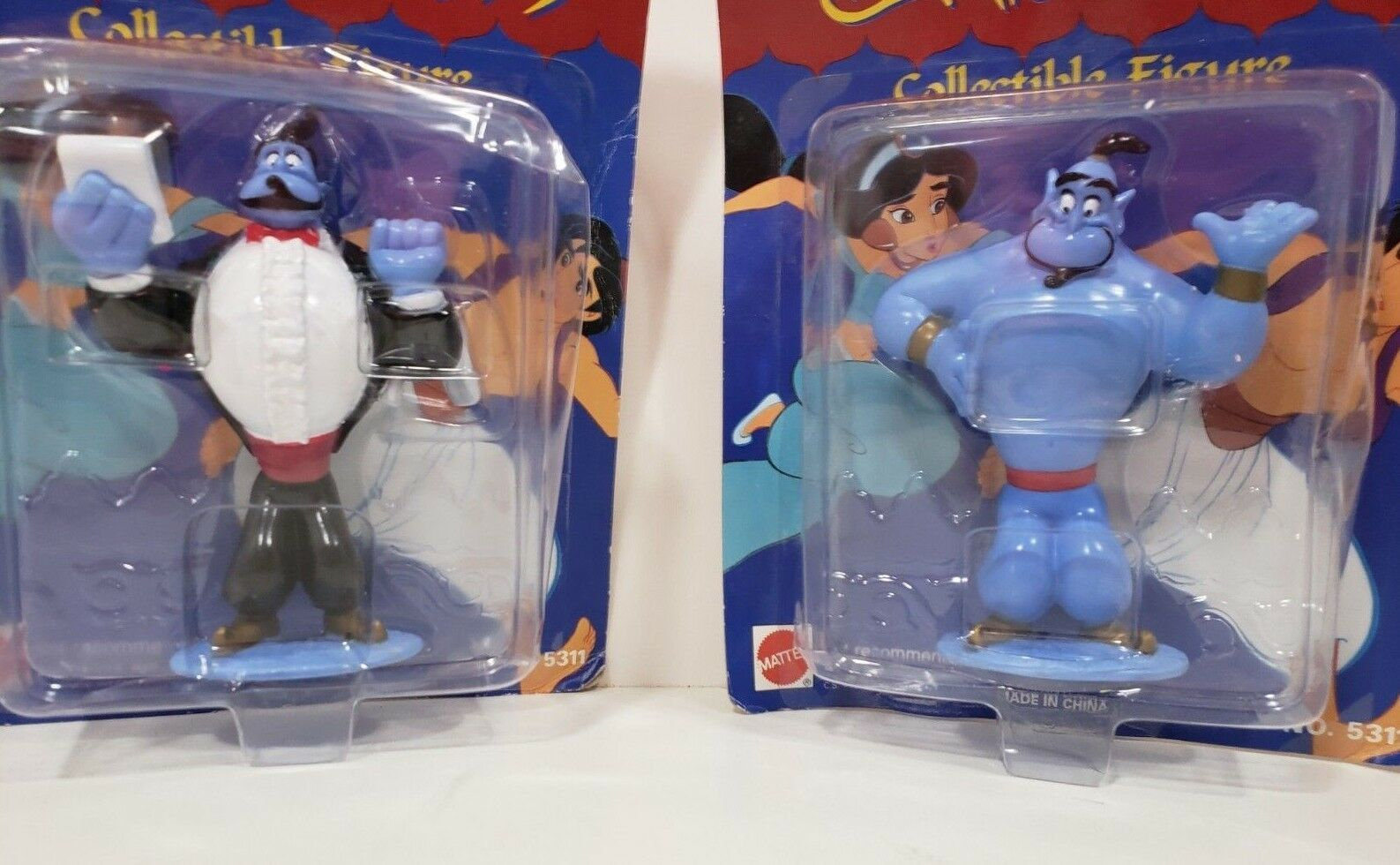 Set of 2 Mattel Disney's Alladdin Collectible figure - Genie image 2