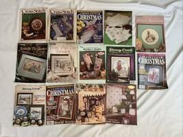 17 Cross Stitch Magazine And Pattern Chart Lot Xmas Stockings & More - $46.74