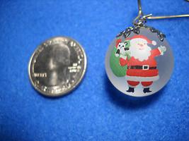 Happy Santa Frosted Glass Ball Miniature Ornament Hallmark 1988 - $6.92