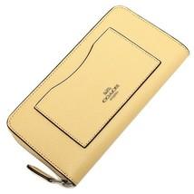 NWT Coach F54007 Accordion Zip Wallet Ziparound Clutch Leather Vanilla $... - $69.99