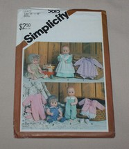 """Simplicity 5615 Baby Doll Clothes Pattern Large 17""""-18"""" Dy Dee Size 1985 New - $5.89"""