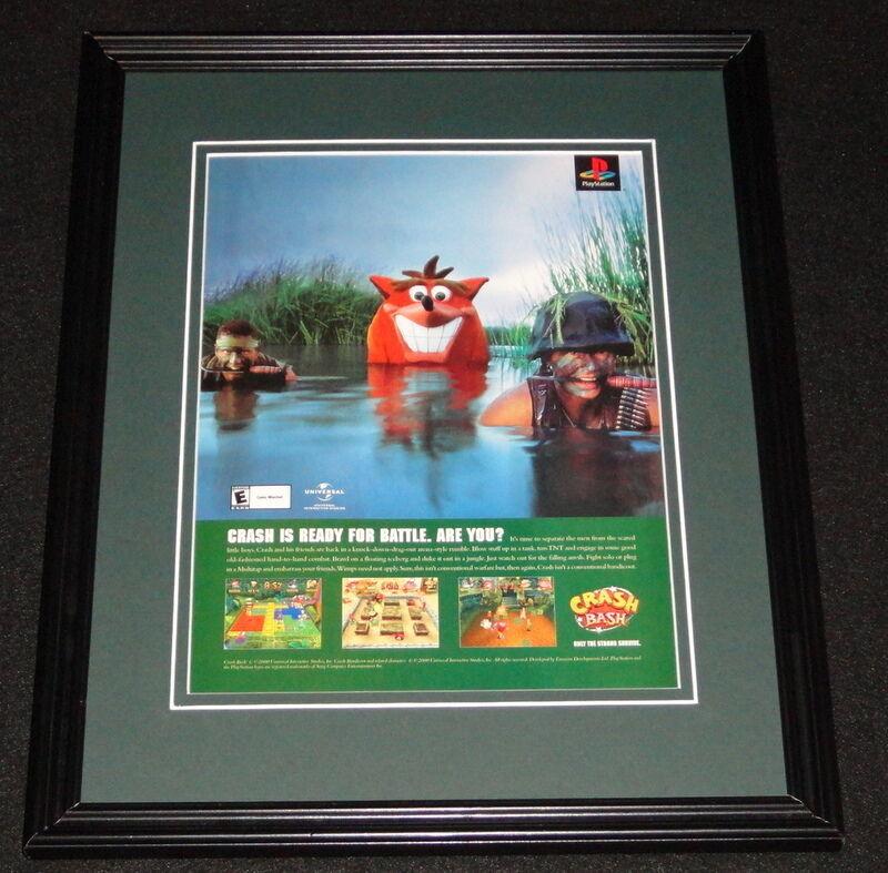 Crash Bash 2000 Playstation 11x14 Framed ORIGINAL Vintage Advertisement