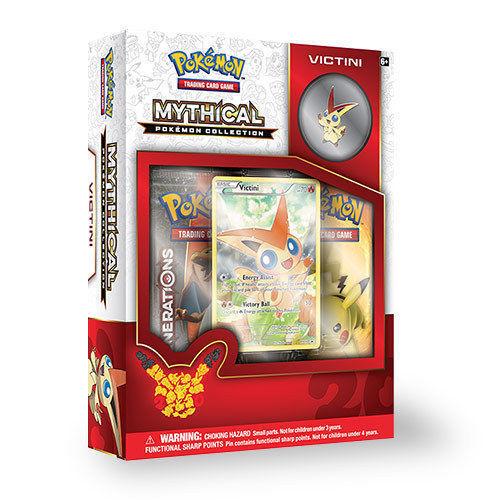POKEMON TCG (3) Collection Box: Mega Gyarados, Mythical Arceus & Victini + BONUS