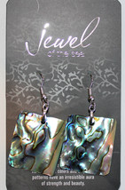Natural Rectangle Geometric Abalone Shell Jewel of the Sea Ocean Dangle ... - $12.97