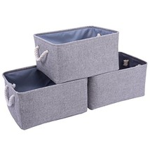 TheWarmHome Foldable Storage Baskets with Strong Cotton (15.7*11.8*8.3in... - £30.15 GBP