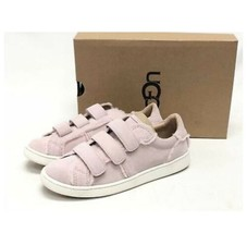 Ugg Alix Size 5 Pink Suede Sneakers Spill Seam Womens Shoes 100% Shearling New - $56.05