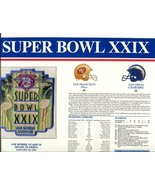 Super Bowl 29 Patch and Game Details Card - $39.55