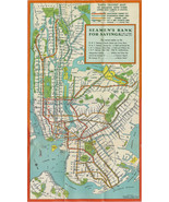 New York City NYC Subway System Map Train Transit IRT BMT IND Wall Poste... - $12.87