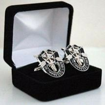 US Army Special Forces Cuff link & Tie Clip Silver in color  - $34.64